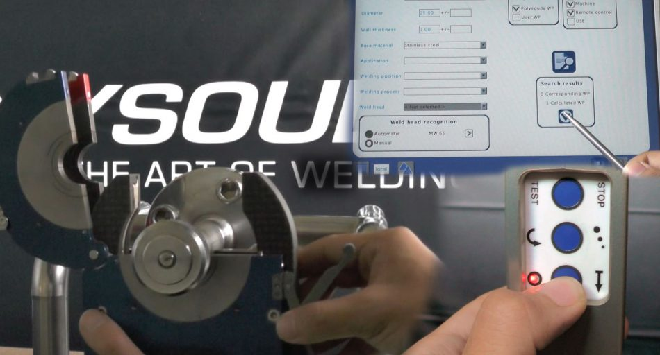 Polysoude training video for use of a P4 power source and MW welding head