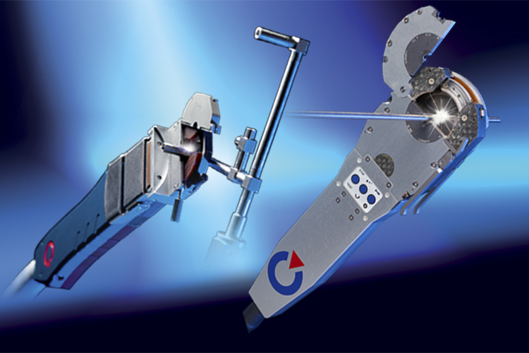 Polysoude - closed chamber welding heads for orbital welding