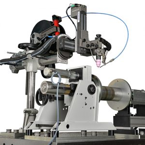Welding lathe for automated welding
